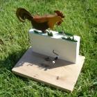 Pecking hen automata