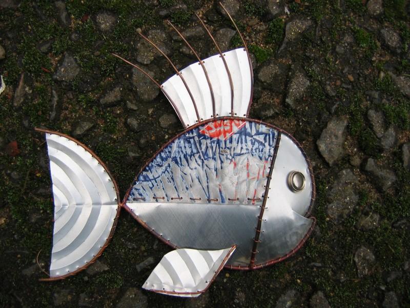 Spine fish sculpture
