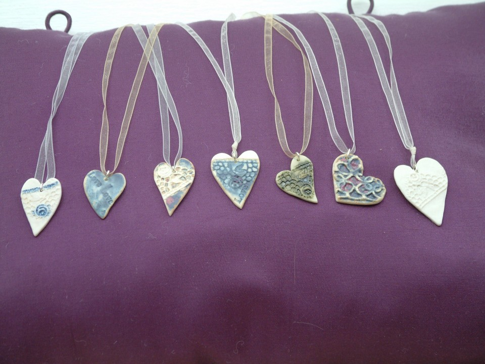 Heart pendants more