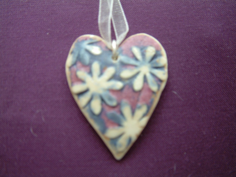 ceramic hearts pink