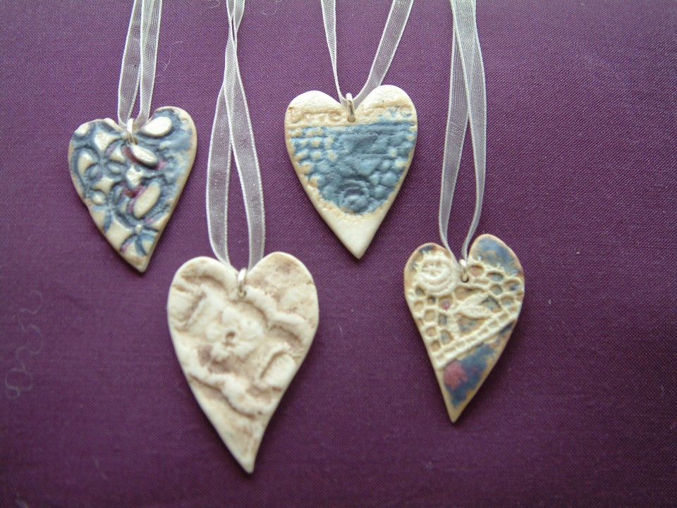 Ceramic heart closeup