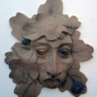 Green man wood eyes