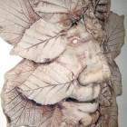 Green man leaf detail