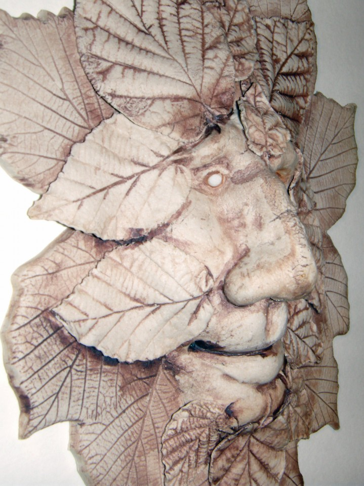 Green man leaf detail