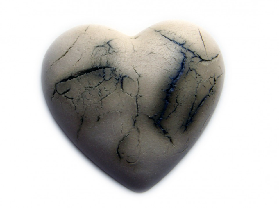 Heart cracked earth