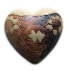 Heart lace brown