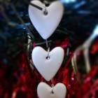Photo of Handmade Christmas Decoration triple heart